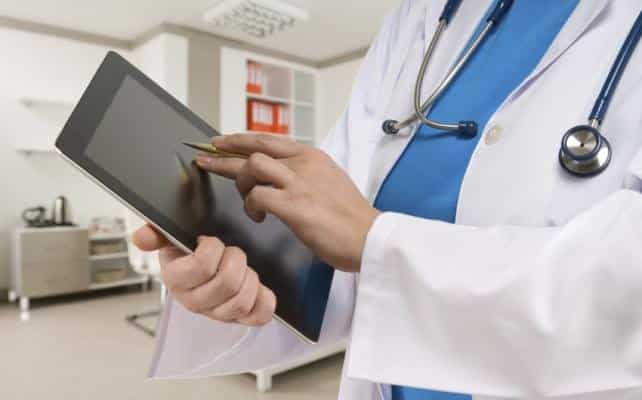 Doctor with Touchpad